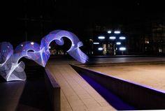 The backside of the old library in Ghent, where exciting pop-upthings will happen soon, but what!?  @stadgent? @democrazy_? @dekrookbe? @dokgent?    #ghent #9000 #negenduust #nofilter #dekrook #repurpose #building #grafittilights #grafitti #light #abstract #drawing #abstractart #lightart #night #shadow #noir #lines #nightphotography #longexposure_shots #urban