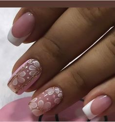 Flower Nails, 3d Nails, Simple Nails, Manicure And Pedicure, Short Nails, Nail Art Designs, Hair Beauty, Lily, Make Up