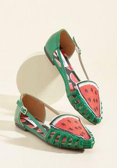 fun watermelon flats