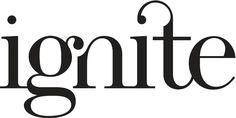 Typographic logo: Ignite