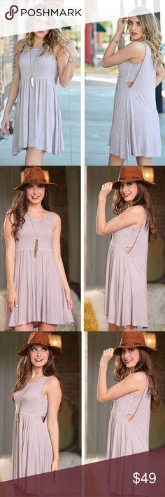 "❣Vintage Wash Lilac Babydoll Dress❣ Vintage wash dress Color: Lilac 96% Rayon 4% Spandex   B- S-17"", M-18""  L-19"" L- S- 33"" M-34"", L-35"" Infinity Raine Dresses Midi"