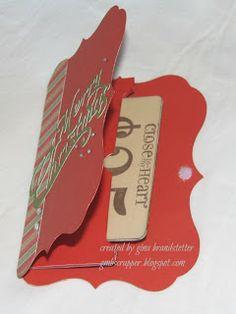 Gina's Little Corner of StampinHeaven: Mystery Hostess Announced and an Artiste Gift Card Holder