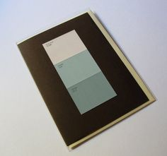 Paint Chip Pairing Card:  Hush Hush/Inhale/Exhale - by Word for Word - $5.00
