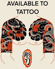 Concept available to tattoo 🇬🇧 🇧🇷. For bookings email Japanese Snake Tattoo, Japanese Tattoo Symbols, Japanese Tattoo Designs, Japanese Sleeve Tattoos, Best Sleeve Tattoos, Tattoo Sleeve Designs, Tebori Tattoo, Irezumi Tattoos, Traditional Japanese Tattoo Flash