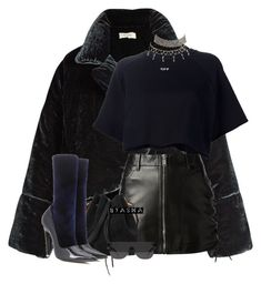 Untitled #178 by nyashaa on Polyvore featuring polyvore fashion style Off-White Isa Arfen Yves Saint Laurent Balenciaga Sophie Hulme Charlotte Russe RetroSuperFuture clothing
