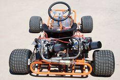 Twin engine go kart with two clone motors Vintage Go Karts, Vintage Vespa, Cool Go Karts, Go Kart Motor, Electric Go Kart, Electric Cars, Go Kart Racing, Auto Racing, Homemade Go Kart