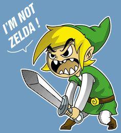 Lol stop calling link zelda