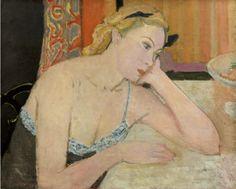 MAURICE BRIANCHON (1899-1979) Femme au corsage bleu 1948