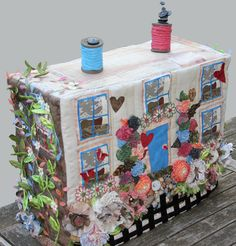 Created by Helena Clulee. Sewing machine dust cover - Front