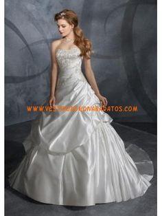 luz solver uma linha de pick-up vestido de noiva sem mangas de cetim