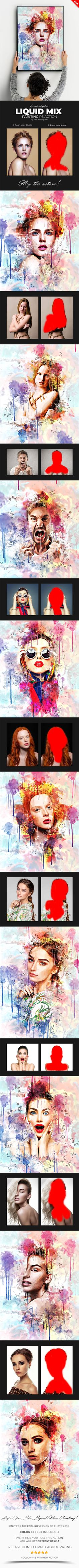 Buy Liquid Mix Painting Photoshop Action by Artist-Painting on GraphicRiver. Liquid Mix Painting Photoshop Action Liquid Mix Painting Photoshop Action for photographers and graphic designers. Effects Photoshop, Photoshop Cs5, Photoshop Design, Photoshop Tutorial, Photoshop Actions For Photographers, Photoshop Photos, Photography Tools, Photoshop Photography, Photoshop Express