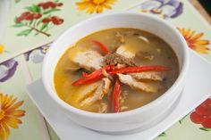 """Visita Diablo Rosso y prueba la """"Sopa del Diablo"""" (curry rojo tailandés con fideos, pollo y berenjena al grill) #WishDish"""