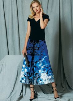 Top and Pleated Skirt | Pattern 1519 | Vogue Winter 2016
