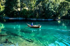 Río Liucura, aguas cristalinas, Pucon-