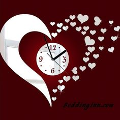 #heart #love #clock Stunning Beautiful Heart-shaped Mirror Acrylic Wall Clock Buy link->http://goo.gl/Y6YXJ5 Discover more->http://goo.gl/3nwYsI Live a better life, start with @beddinginn