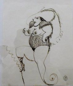 Dreams of Federico Fellini, from his drawings, Rimini museo