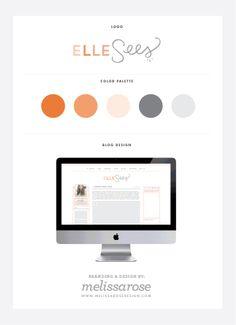 Pretty logo.  Blog Design for Elle Sees || www.designeatrepeat.com