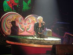Pink on her Funhouse tour in Glasgow, April 2009.