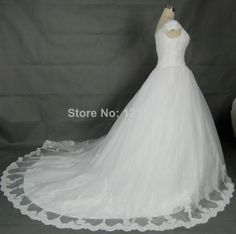 White/Ivory Appliques Tulle Bridal Gown Wedding Dress Custom Size 6 8 10 12 14+ $180.00