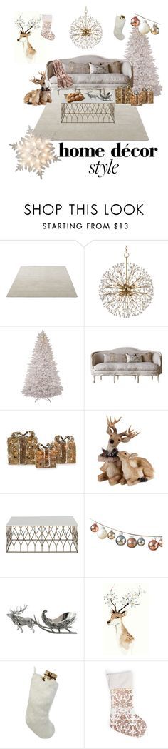 """Untitled #47"" by sawsan15 ❤ liked on Polyvore featuring interior, interiors, interior design, home, home decor, interior decorating, Hudson Valley Lighting, Shea's Wildflower Company, GE and Gabby"
