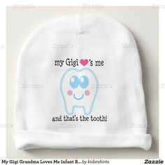 My Gigi Grandma Loves Me Infant Beanie hat Baby Beanie