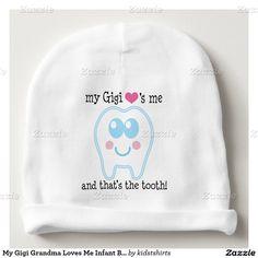 My Gigi Grandma Loves Me Infant Beanie hat Baby Beanie