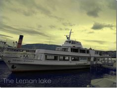 Boat trip on the Leman lake