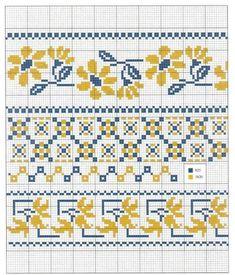 Cross Stitch Heart, Cross Stitch Borders, Cross Stitch Flowers, Counted Cross Stitch Patterns, Cross Stitch Designs, Cross Stitching, Cross Stitch Embroidery, Hand Embroidery Videos, Embroidery Stitches Tutorial