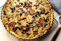 If you have made the mushroom ragoût, this tart is quickly assembled You need about 2 cups of the ragoût for the filling.