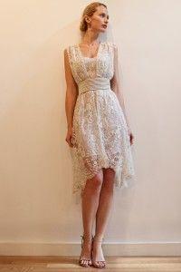 vestido de noiva curto Francesca Miranda