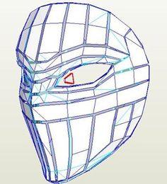 Street Fighter - Vega - Mask Pepakura File on Onekura. Make your own costumes and accessories.