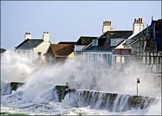 Guernsey has ridiculously high tides. Some rise up to 30 feet and during stormy weather the sea front houses and pubs and restaurants are inundated and the roads are flooded - but we CARRY ON regardless!