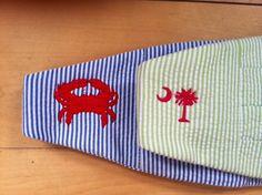 New!! Seersucker Bow Tie and Cummerbund Set by Just Madras with a Palmetto or Crab!