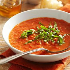 Fresh Tomato Soup From Better Homes and Gardens, ideas and improvement projects for your home and garden plus recipes and entertaining ideas.