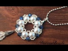 Doreenbeads Jewelry Making Tutorial - How to Make Bead Snowflake Pendant Necklace - YouTube