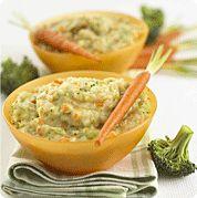 Baby Food Recipe - Carrots, Broccoli & Cheese