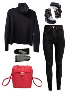 """""""Untitled #1729"""" by uniqueautumn ❤ liked on Polyvore featuring Ann Creek, Chanel, Zara and Lauren Ralph Lauren"""