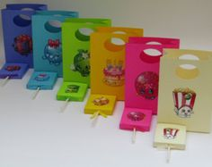 12 Small Shopkins Party Favor Bag-Candy by Lovelyhandscrafts