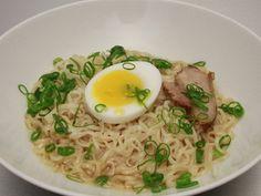 Richard Blais' Ramen Noodles with Seared Pork Belly, Duck Legs & Duck Egg