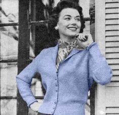 Sweet Vintage 50s Cropped Cardigan Knitting Pattern