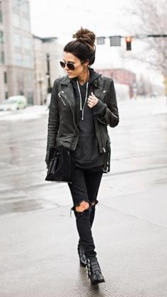 All black, simple and stylish x