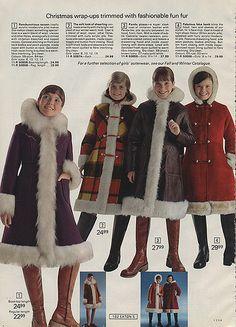 I had this coat! OmGosh! 1973 -  Eaton's Christmas Catalogue - thank you Wishbook flickr