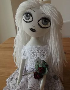 goth cloth doll face templates - Google Search