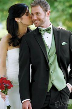 Calvin Klein Arden Tuxedo with green vest