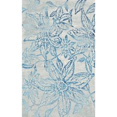Fusion Floral Blue/Grey 7 ft. 10 in. x 10 ft. 10 in. Indoor Area Rug
