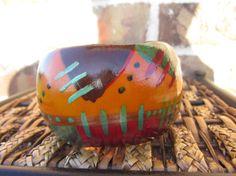 African Wooden Bangle Bracelet by BANGLEBOO on Etsy, $20.00