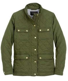 J. Crew Quilted Downtown Field Jacket | Reach for this one when the mercury does a serious dip—the chic styling mirrors its canvas counterparts, but this version is done up in a cozy quilted cotton that will fend off fall's chilliest breezes. Also available in black. Also available in tall and petite sizing.