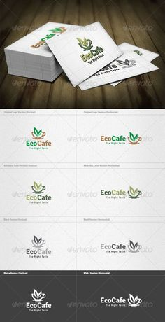 Eco Cafe Logo — Vector EPS #bakery #green • Available here → https://graphicriver.net/item/eco-cafe-logo/4200159?ref=rabosch