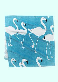 Beach Towel Flamingo Turquoise