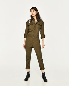 ZARA - WOMAN - LONG JUMPSUIT WITH POCKETS